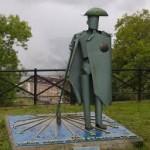 Monumento al peregrino en Tineo